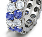 the blue stone makes many types of rings - classic, vintage, exotic and modern