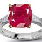 Pink Ruby Diamond Rings, Green, Yellow