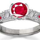 Ruby Rings Reviews - A beautiful Art Deco-style diamond ring by Neil Lane is set with an Asscher