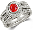 Natural Ruby Rings