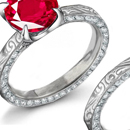 Ruby Diamond Rings, Diamond Ruby Rings, Ruby DiamondAnniversary Bands, Burma Ruby, Thai Ruby, Vietnam Ruby