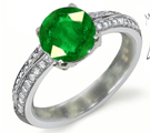 patterns of emerald signet rings