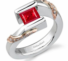 Free Shipping on Ruby Ring with Diamonds