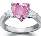 Fine Pink Sapphire Diamond Rings for less
