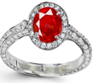 Photos and description of ruby diamond ring true to size. Excellent service. Danny September 15, 2010.