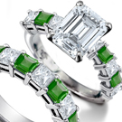Rare Collectable Emerald Ring with 4.0 carats certified diamonds