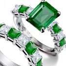 Fine Art Collector Emerald Roman Flower Ring with 2.75 carats fine Columbian Emeralds