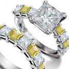 women's gold and pave-set diamond bands