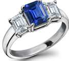 Natural Oval 1.15ct Sapphire Diamond Crossover Ring White Gold 10kt