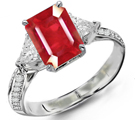 Sterling Silver Gold Platinum Ruby Rings