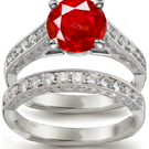 Ruby Anniversary Band with Diamonds