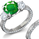 in the emerald is exppressed the strength of faith in adversity