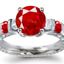 GIA Appraised Ruby Ring with certified Diamonds