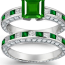 Genuine Emerald Rings with Diamonds