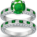 Bluis Green Hue and Medium Tone Muzo, Columbian Emerald Ring with Diamonds