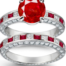 Memento Ruby Diamond Ring in Platinum