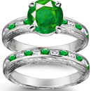 Estate Vintage 14K Yellow Gold Designer Natural Emerald & Diamond Ring 3.7g