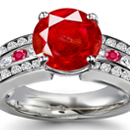 Purplish Red Hue And Medium Tone Ceylon RubyRing with Diamonds