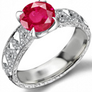 Rare Collectable Ruby Ring with 4.0 carats certified diamonds