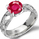 Diamond and Ruby Ring in 14k Rose Gold with rare fine 5.75 carats mogok rubies