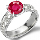 Natural Ruby Collector Ring with 3.65 carats sparkling diamondsand 2.25 carats ceylon rubies