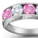 Pink Sapphire Diamond Rings Online Jewelry Store