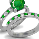 Emerald Anniversary Band with Diamonds
