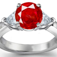 Ruby & Diamond Engagement Rings