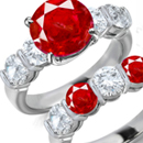 Ruby Ring Designs, Antique Designs, Modern Designs, 3 Stone Ruby Ring, Tension Set Ring,