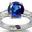 Diamond Ring with Kashmir Sapphires