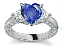 Did you know that sapphire is also very hard, scores a nine on the Mohs scale, which measures gem hardness. Diamonds are rated 10, making sapphire a close second.