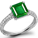 22k Gold Emerald Engagement Ring  in German Ring Size 19