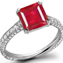 Ruby Rings For Less - Unique andChic, an R. Esmerian ring has a row of fresh rose-cuts