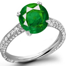 Emerald Ruby Cameo Ring in JapaneseRing Size 15