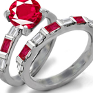 Edwardian Ruby Ring Design with Diamonds