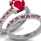 Cullinan Diamond Ring with Burma Rubies
